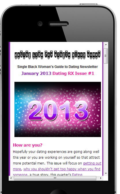 Dating Rx Mobile Newsletter